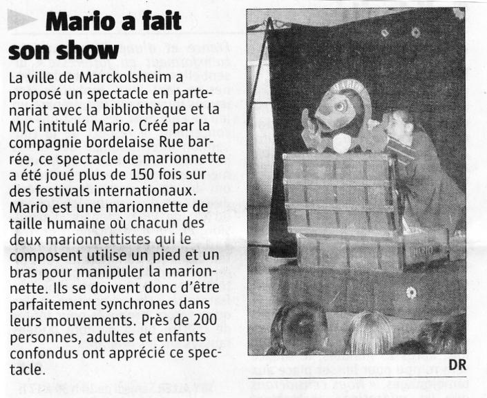 article Marckolsheim