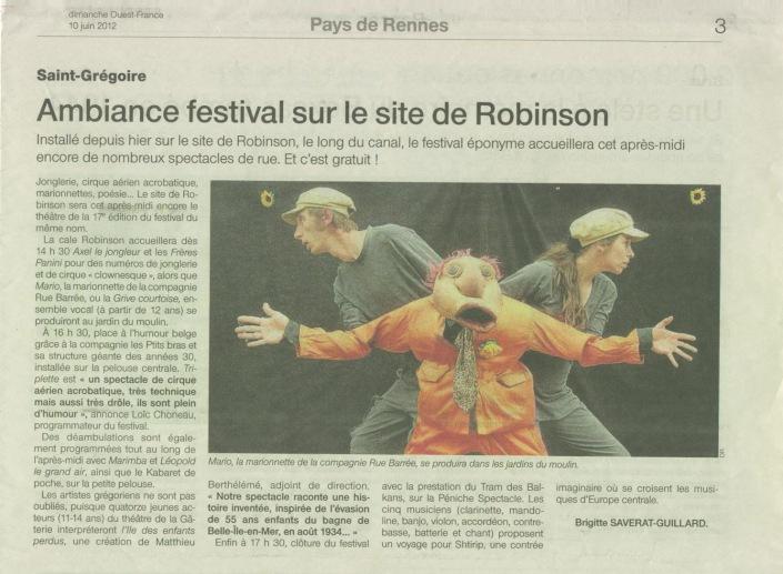 Robinson juin 12 debout